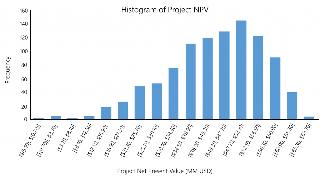 forecast model histogram npv